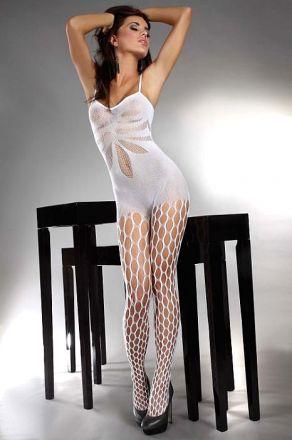 Livia Corsetti Bodystocking Artemida Holes White LL17066