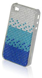 Diamante iphone 4/4S Case Blue LSB031
