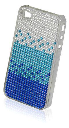 Diamante iphone 4/4S Case Blue LSB031