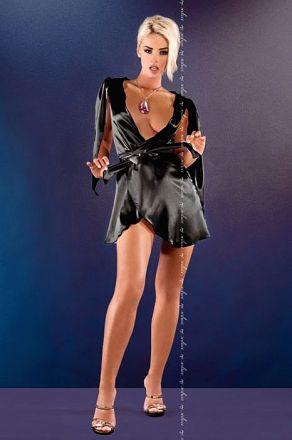 Me Seduce Florence Peignoir Black MS-0068
