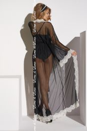 Lume di Luna Ardea Long Robe Black