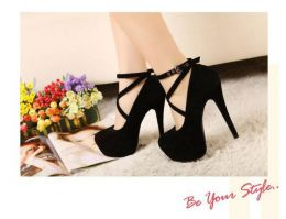 High Heel Shoes Black MY SHA608