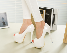 High Heel Shoes White MY SH1082-W