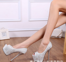 High Heel Shoes White MY SH18848