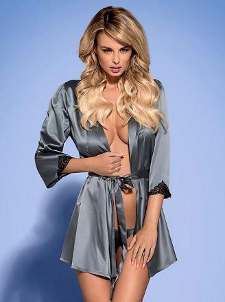 Obsessive Satinia robe grey OB0642