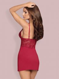 Obsessive 810-CHE chemise and thong claret OB 1006