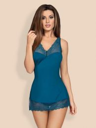Obsessive Miamor chemise and thong blue
