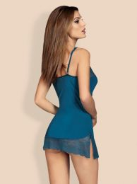 Obsessive Miamor chemise and thong blue OB1211