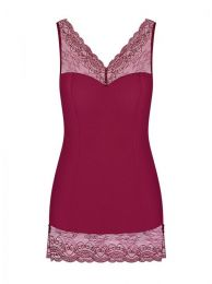 Obsessive Miamor chemise and thong ruby OB 1235