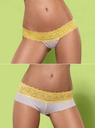 Obsessive Lacea shorties & thong yellow 2pack OB2752