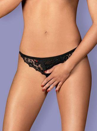 Obsessive Letica crotchless thong - MINI black OB 3956