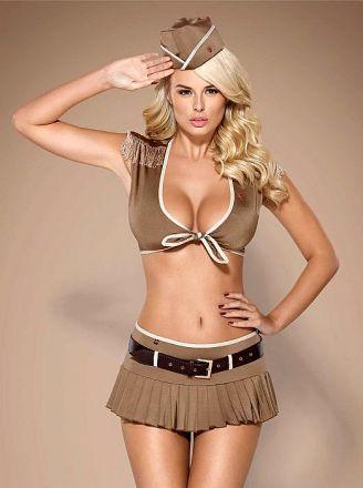 Obsessive 814-CST-4 soldier costume 5-pcs OB3995