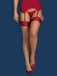 Obsessive Rosalyne stockings red OB4199