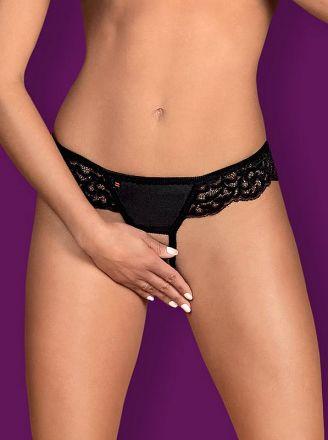 Obsessive Laluna crotchless panties - MINI black OB4861