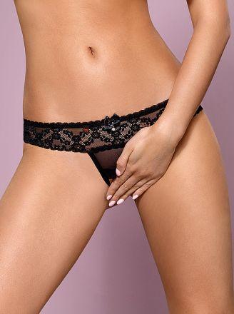 Obsessive 837-THC-1 crotchless thong black OB7207