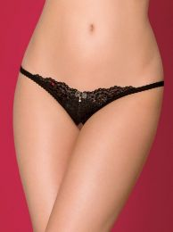 Obsessive 852-THC-1 crotchless thong black OB7603