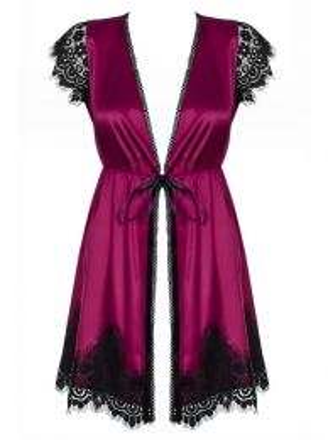 Obsessive 861-PEI-5 peignoir & thong pink