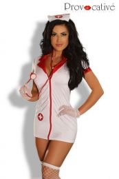 Provocative 7 pcs Sexy Love Nurse Costume PR1288