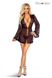 Provocative Charmed Peignoir Noir PR6070
