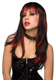 Courtney Wig Black with Burnt Red