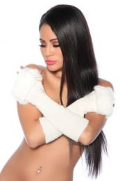 Arm Warmers White SA13142