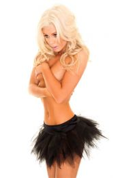 Black Net Skirt SC1201