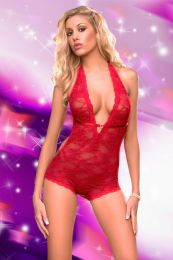 Red Lace Teddy SC4073