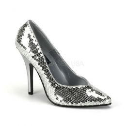 Pleaser Single Sole Seduce 420SQ Silver SED420SQ