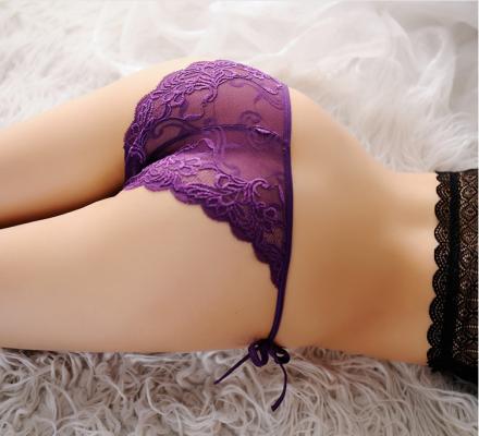 Lace Thong Purple MY-85005-Purple