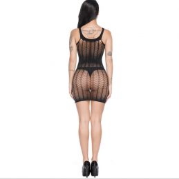 Sexy Net Mesh Mini Dress Black MY-YF181255-Black