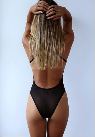 Sexy Lace Teddy Black MY YF1902182-Black