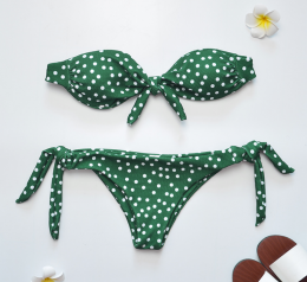Polka Dots Bikini Green MY 85221-1903184-Green