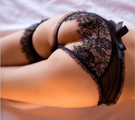 Sexy Lace Open Thong Black MY-YF1903251