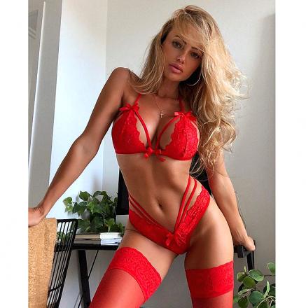 Sexy Lace Set Red MY YN191231-R