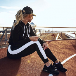 Sporty Black Leggings MY-YN197200