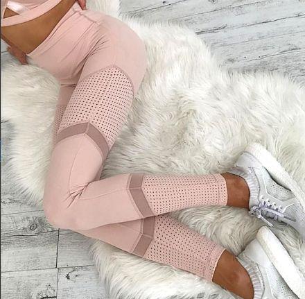 Pink Hole Leggings MY-YN2008033