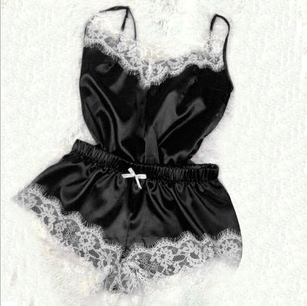 Satin Top Black-White 103014 MY-YN812300-Black-White-2