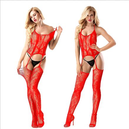 Sexy Floral Bodystocking Red MY-YN910182