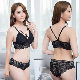 Sexy Lace Set Black  MY-YN910228-Black