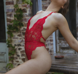 Sexy Lace Teddy Red