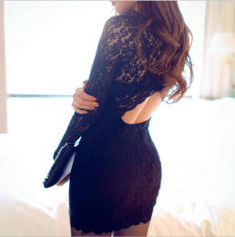 Sexy Lace Dress With Long Sleeves MY-YN910253
