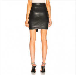 Sexy Leather Skirt Black MY YN910279