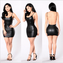 Mini Leather Dress MY-YN91110