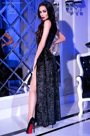 Chilirose Black Hood Dress CR-4302-Black