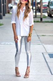 Gloss Leggings Silver MY-K107