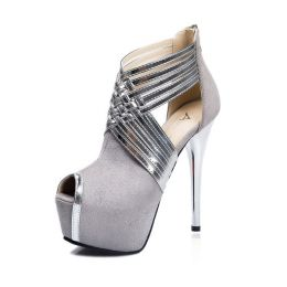 High Heel Shoes Grey MY 2682