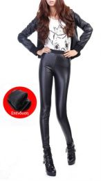 Faux Leather Lining Leggings MY-K450