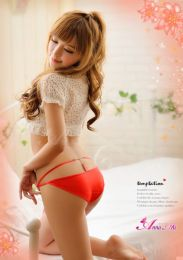 AnnaMu Sexy Looking. Feint T-thong Red Pantie NA13010001-1