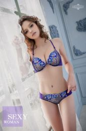 Sexy 2-pcs Bra Set Blue 16040003