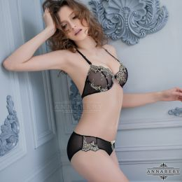 Sexy 2-pcs Bra Set Black NA16040017
